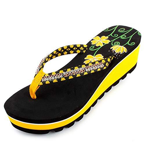 JYDAN Chanclas Mujer Plataforma Gruesa Sandalias Zapatillas Zapatos De Playa