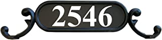 ADDRESSES OF DISTINCTION Charleston Mailbox Address Plate – Mailbox Plaque with Silver Reflective Vinyl Numbers – Customized House Digits – Double Sided Sign – Rust Proof Aluminum - Hardware Included