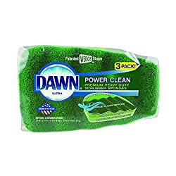 powerful Cleaning Sponge Clean Power Clean Scrubber Sponge, 3 packs, green