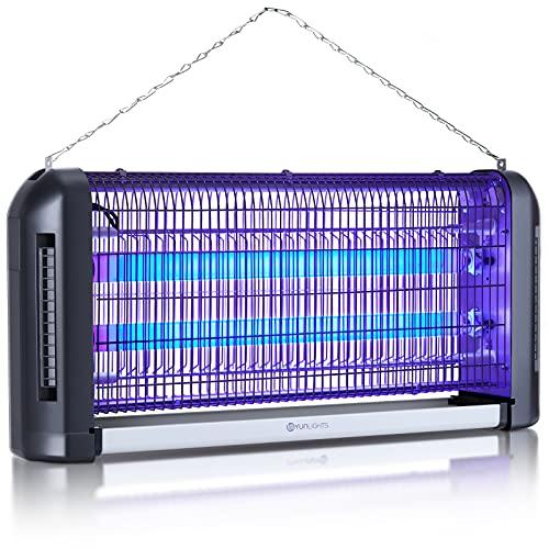 YUNLIGHTS 39W Lampara Antimosquitos Electrico con luz UV para Interiores al Aire Libre - Independiente o Colgante de Pared