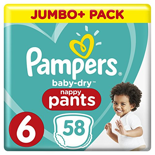 Couches Pampers - Taille 6 baby dry pants - 58 couches bébé