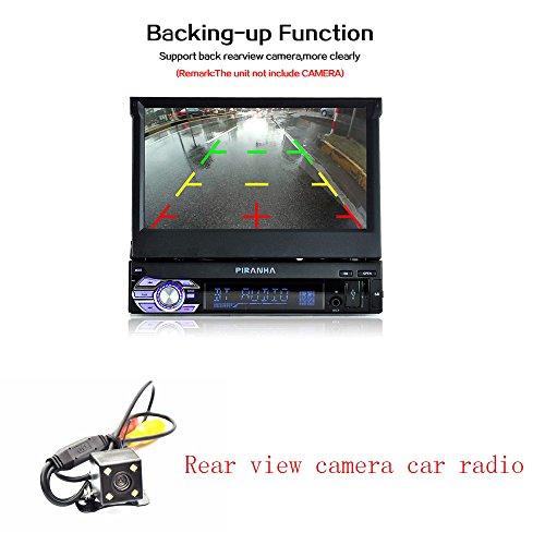 BoomBoost Car Radio Stéréo Bluetooth 7 '' Touch 1DIN FM / Remote Head Unit Lecteur DVD + Appareil photo