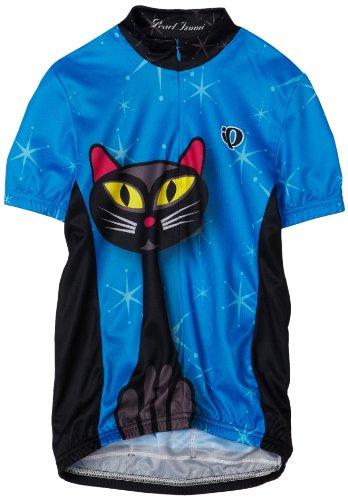 PEARL IZUMI Kinder Kurzärmliges Trikot Junior Limited Edition Jersey, Black Cat, XL