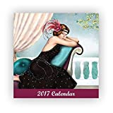 Robert Frederick 2017groß Kalender, quadratisch, Claire Coxon Art Deco, Kunststoff, Sortiert