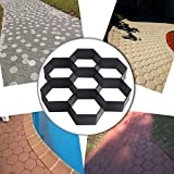 COM4SPORT DIY Patio Walk Maker Stepping Stone Concrete Paver Mold Reusable Path Maker Mold Garden Paving Stone Molds 11.4x11.4 Inch (Hexagon)