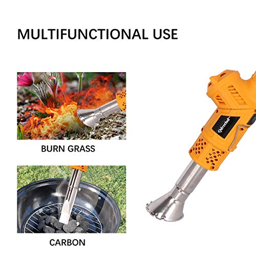 Wodesid Electric Weed Burner 2000W, 5-in-1 Function Lawnmower Weeder, Thermal Weeding Stick, Barbecue Igniter, Up to 1202℉, 1.8M Cable, 5 Nozzles Garden Tools