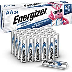 24 Pack of Energizer Ultimate Lithium AA Batteries Energizer Ultimate Lithium is the No. 1 Longest Lasting AA Battery Leak proof construction protects the devices you love (based on standard use) Powers your most critical devices ideal for your smart...
