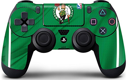 Skinit Decal Gaming Skin for PS4 Controller - Officially Licensed NBA Boston Celtics Design