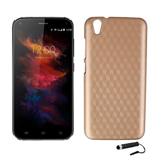 Tasche für UMIDIGI Diamond/ UMIDIGI Diamond X Hülle, Ycloud Handy Backcover Kunststoff-Hard Shell Hülle Handyhülle mit stoßfeste Schutzhülle Smartphone Gold