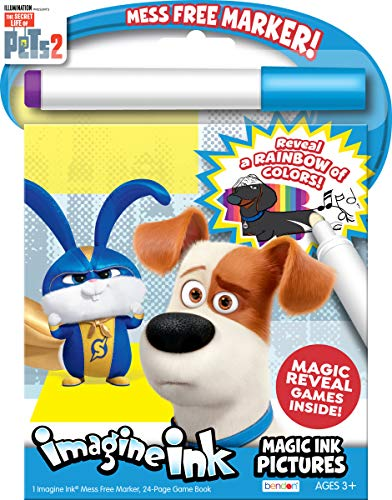 Bendon Coloring Book Secret Life of Pets Imagine Ink Magic Pictures 42238 Multicolor