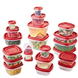 Rubbermaid Easy Find Lids Food Storage Containers, Racer Red, 42 Piece...
