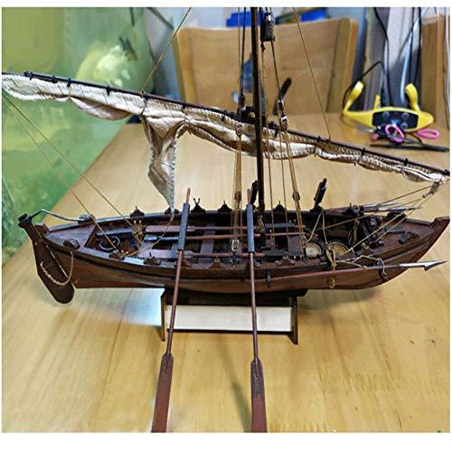 M & A Maqueta de barco de madera para adultos, maqueta de barco de madera en escala 1: 32, barco de ballena