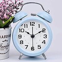 GAOLILI ベッドサイドミュートアラーム時計クリエイティブルミナス電子小さな目覚まし時計ファッション漫画時計 (色 : E)
