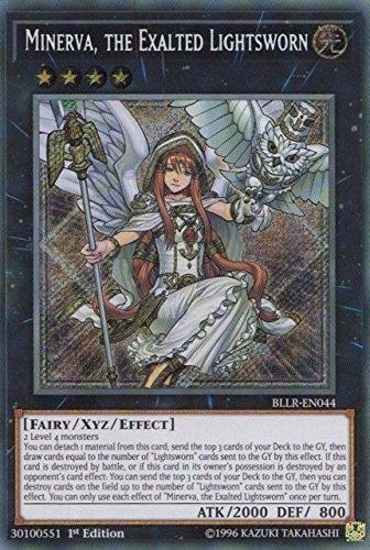 Minerva, the Exalted Lightsworn - BLLR-EN044 - Secret Rare - 1st Edition