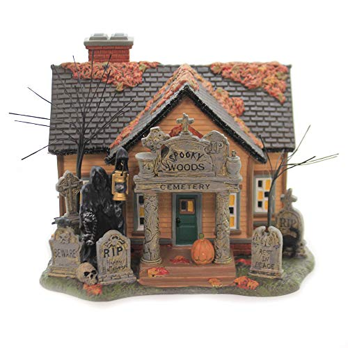 Department 56 Snow Village Halloween The Cemetery House Lighted Building, 7.28 in H
