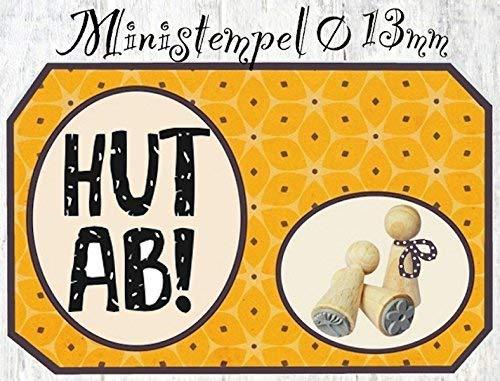 Zwergenstempel Hut Ab!, Ø13mm, fast 400 lustige Stempel-Motive im Shop, nur 1x Versandgebühren