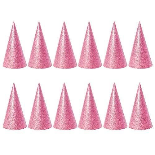 Toyvian - Partyhüte, Partymasken & Zubehör in Rosa, Größe 2,56 x 2,56 x 3,93 Zoll
