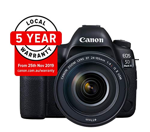 Canon EOS 5D Mark IV Full Frame Digital SLR Camera with EF 24-105mm f/4L IS II USM Lens Kit