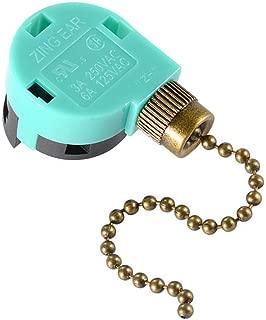 Ceiling Fan Switch ZE-268S6,3 Speed 4 Wire Ceiling Fan Pull Chain Control,Pull Chain Cord Switch Control for Ceiling Fans,Bronze