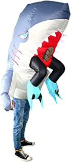 ABOOFAN Inflatable Shark Costume Halloween Blow Up Sea Animal Costume Outfit Party Funny Inflatable Cosplay Prop Without B...