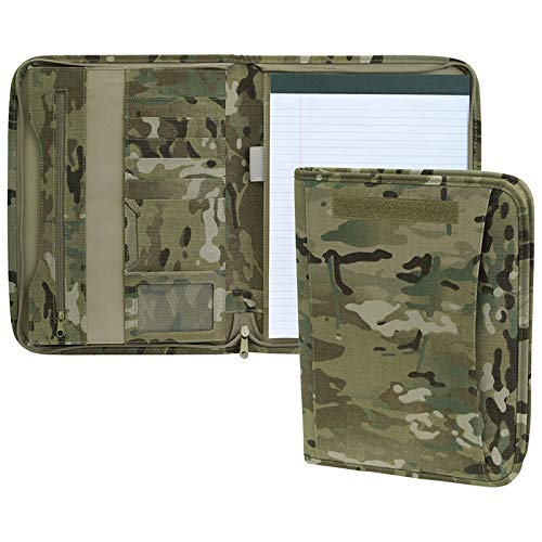 Mercury Tactical Gear Zippered Multicam Padfolio Ring Binder (MRC7526-MUL)