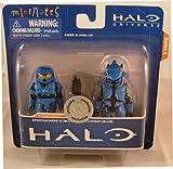 Halo Minimates Exclusive Series 3 Mini Figure 2Pack Spartan Mark VI (Blue) Elite Combat (Blue)