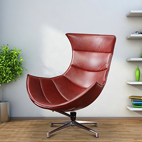 homcom – Poltrona Uovo Egg Chair Relax Ergonomica Girevole in Ecopelle 88 x 88 x 98cm Marrone
