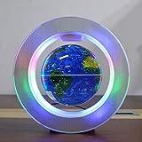 JNMDLAKO Explorar el Mundo Globo Flotante Globo de levitación magnética Decoración Colgante Artesanía Regalo Oficina Decoración del hogar Adornos creativos 6 Pulgadas Globo del Mundo