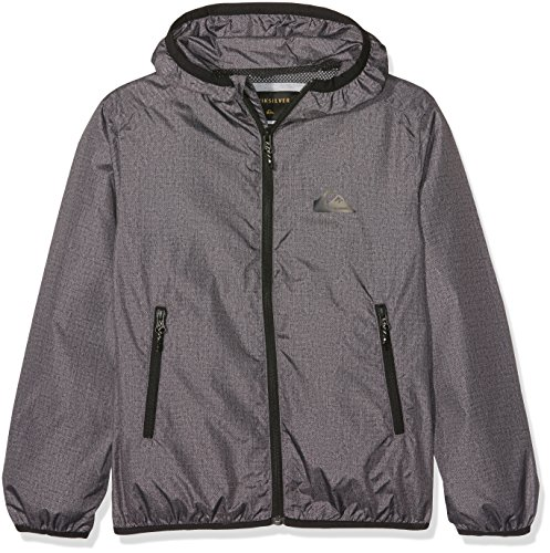 Quiksilver Jungen EVERYDAYJACKETY Everyday Wasserabweisender Windbreaker, Dark Grey Heather, S/10