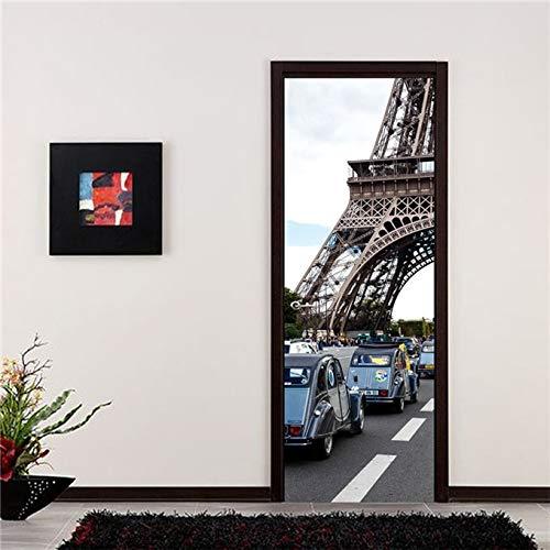 Papel Tapiz de Paisaje Natural 3D Etiqueta de la Puerta Calcomanía de Nevera Autoadhesivo Impermeable DIY Mural Diseño del hogar Decoración de Arte A7 86x200cm