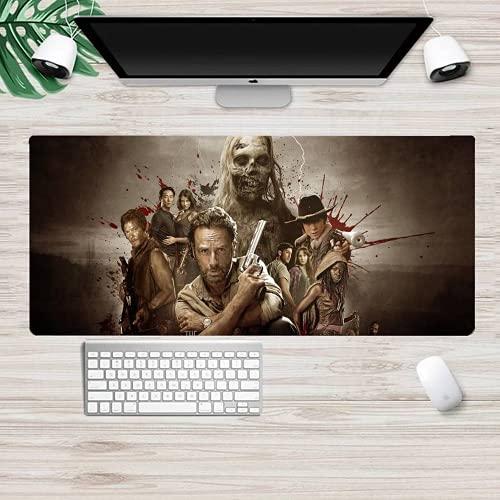 Tapis de souris 3D « The Walking Dead » - Tapis de souris de gaming XXL - Épaisseur : 900 x 400 x 3 mm - Antidérapant - Lavable (Terror1,800 x 300 x 3 mm)