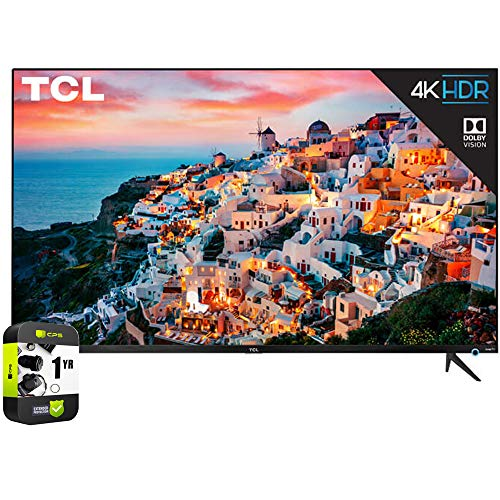 TCL 65S535 65 inch 5-Series 4K UHD Dolby Vision HDR Roku Smart TV Bundle with 1 Year Extended Protection Plan