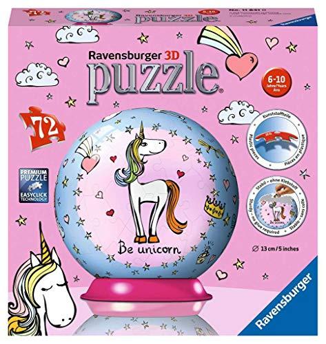 Ravensburger Italy- Unicorno 3D Puzzleball, 11841