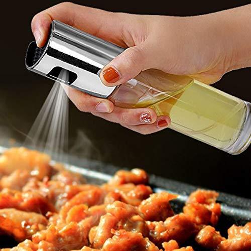 Botella de Spray de Aceite Dispensador de Botella de Aceite para Freidora de Aire Barbacoa Ensalada de Cocina Asado Asado Cocina Condimento Contenedor Herramienta