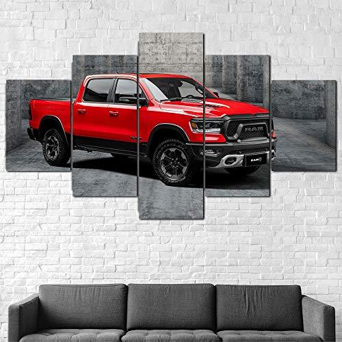 GSDFSD Quadri Moderni Stampa di Immagini Artistica Digitalizzata   Tela Decorativa per Soggiorno O Stanza da Letto   500 Rebel 2021 Truck   5 Pz. 200X100Cm,Senza Cornice