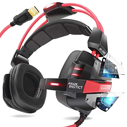 Headset Gamer USB 7.1 PC Notebook Ps4 Ps5 Adamantiun Killer Instict AH-2000 Fone de Ouvido 3D