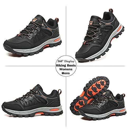Zapatillas Trekking Hombre Mujer Zapatillas de Senderismo Transpirable Montaña Botas de Senderismo Hombre Antideslizante Caminar Negro 46 EU