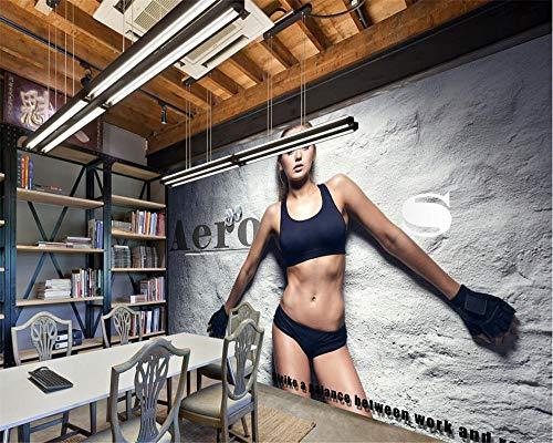 Mural Wallpaper Hall Paper-Technology Industrial-Decor Black Company-Decor Metal 3D Circuit-Board_Boxing Sport Fitness Wallpaper_208Cm (W) X146Cm (H) ✅