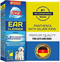 Cliny Ear Cleaner for Dogs and Cats - New Formula Ear Solution Drops - Otic Infection Treatment for Pets- Effective Against Mite, Yeast & Natural Odor Control Lotion