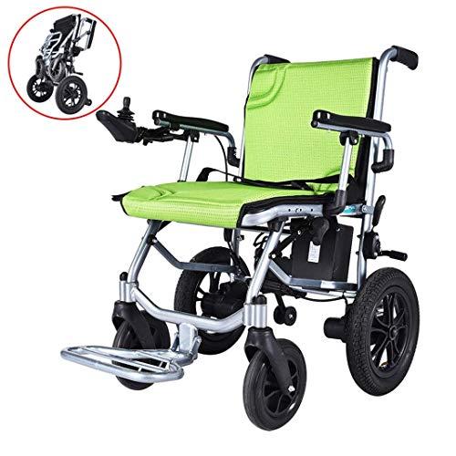 HFJKD Elektrorollstuhl klappbar Motorisierte Elektrorollstühle, Zinger Stuhl, Klappbarer Power Kompakter Mobilitätshilfe Rollstuhl, Leistungsstarker Motorrollstuhl,