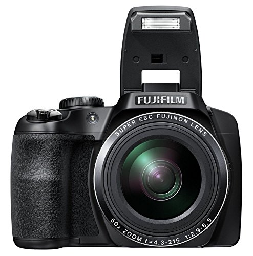 Fujifilm FinePix 16 MP Digital Camera with 50x Optical Zoom, 3.0-Inch LCD Screen and Full HD 1080p Video Recording, Black, S9750