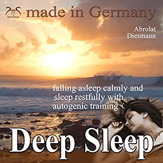 Deep sleep - falling asleep calmly and sleep restfully with autogenic training audiobook cover art