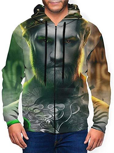 BobLBarrera Conor Mcgregor. Hoodies Sweater Fashion Zipper Shirt Men's Hoodie Sweatshirt Jacket,Black,XX-Large
