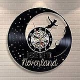 Bnkrtopsu - Reloj de pared con forma de luna de Peter Pan