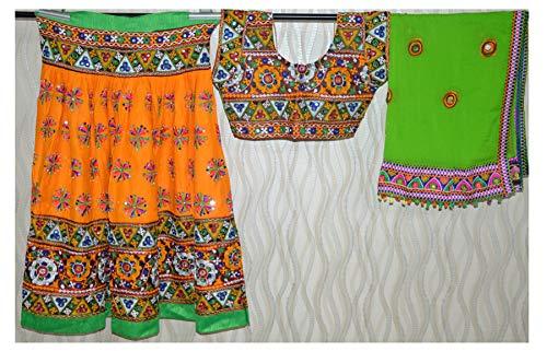Vestido Dandiya Navratri Chaniya Chaniya Choli-Rajasthani Lehenga-Kutch bordado...