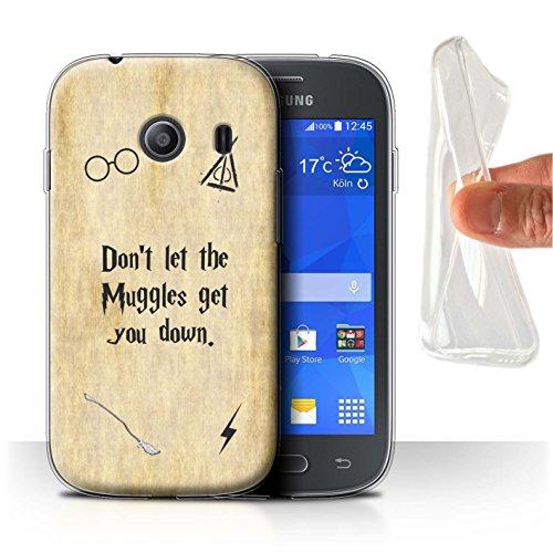 Hülle Für Samsung Galaxy Ace Style Schule der Magie Film Zitate Muggle Design Transparent Dünn Weich Silikon Gel/TPU Schutz Handyhülle Hülle