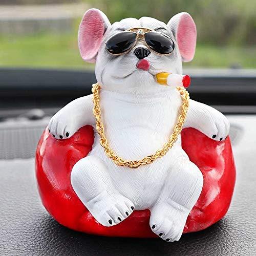 QINGLIN Lindo Bulldog, Auto, Volante, Juguetes, Accesorios