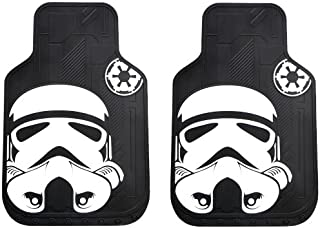 Storm Trooper with Galactic Empire Logo Star Wars Car Truck SUV Front Seat Rubber Floor Mats - Pair