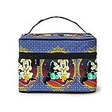Bolsa de maquillaje de Mickey Mouse Aladdin de viaje, bolsa de cosméticos, bolsa grande de malla, organizador de brochas de maquillaje, bolsa de aseo para mujeres y niñas