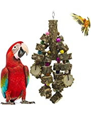 ANTOLE Large Parrot Toys Natural Pepper Wood Bird Chewing Toys Blocks Parrot Tearing Toys Best For Parakeet, African Grey Macaws, Cockatoos Eclectus Amazon Parrot Bird
